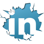 linkedin cracked button